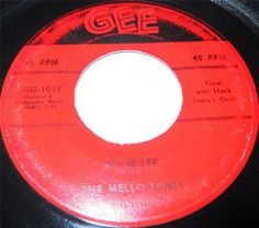 The Mello-Tones: not exactly a household name, even in their heyday. Considering that they recorded for both a giant of the recording industry (Decca) and a giant of the emerging Rock and Roll sound (George Goldner's Gee Label), the Mello-Tones were one of the more obscure New York groups of the 50s.   As happened innumerable times before, they were a collection of kids who grew up in the same neighborhood, this one being 132nd Street and Seventh Avenue in Manhattan.
