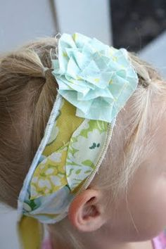 My Own Road: Scrappy Flower Headband: guest post with Nature's Heirloom