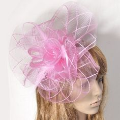 Pink Fascinators For Weddings - Wedding and Bridal Inspiration a1207d79902
