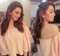Hansika motwani in saravana stores advertisment shooting spot😘 Lehenga Hairstyles, Hairstyles For Gowns, Open Hairstyles, Indian Wedding Hairstyles, Bride Hairstyles, Indian Hairstyles For Saree, Mehndi Hairstyles, Front Hair Styles, Medium Hair Styles