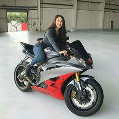 Moto girl on super moto! #motorcyclegirls #motorcycles