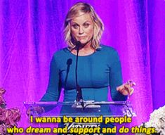 When she expressed how important it is to create instead of destroy. | 19 Times Amy Poehler Gave Absolutely Sound Advice