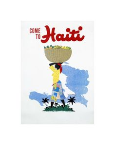 Vintage travel poster - Haiti