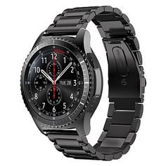 Stainless+Steel+Metal+Replacement+Smart+Watch+Strap+Bracelet+for+Samsung+Gear+S3+Frontier+Samsung+Gear+S3+Classic+–+CAD+$+27.79