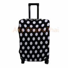 ลดราคา  ผ้าคลุมกระเป๋าเดินทางผ้ายืดลายจุด Polka dots S 20' (สีดำ)  ราคาเพียง  229 บาท  เท่านั้น คุณสมบัติ มีดังนี้ Sเหมาะสำหรับกระเป๋าเดินทาง 20 M เหมาะสำหรับกระเป๋าเดินทาง 22& Lเหมาะสำหรับกระเป๋าเดินทาง 24-26 XL เหมาะสำหรับกระเป๋าเดินทาง 28-30