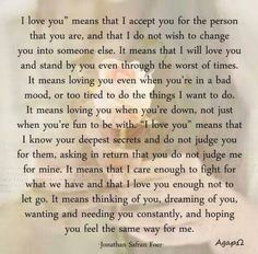I Love You means.....