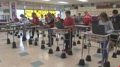 When an Olean middle school teacher realized she didn't have the budget for factory-made standing desks, she got creative.