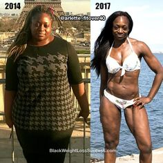 Arlette recently shared an update of her 3 year journey. She lost 110 pounds. After losing her job and ending a relationship, fitness helped her to transition to the next phase of her life and to regain her health. This fomer world champion in powerlifting is now running marathons and preparing for a bodybuilding competition.