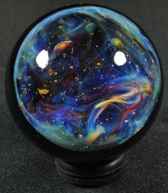 A Nebula in the Stars Glass Marble