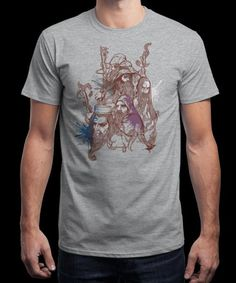 """Wizards"" is today's £8/€10/$12 tee for 24 hours only on www.Qwertee.com Pin this for a chance to win a FREE TEE this weekend. Follow us on pinterest.com/qwertee for a second! Thanks:)"