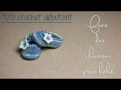 7b9e2610d918 Chaussons au crochet pour bébé (Naissance à 12 mois) TUTO pour débutants