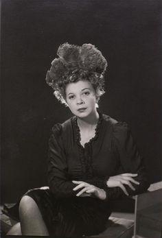 Man Ray photo of Leonor Fini. Circa 1930's. #leonorfini #fini #manray #surrealists #surreal #bighair #30's #1930's #photoportrait