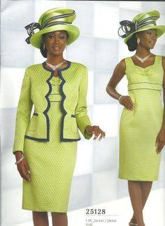 Chancelle Spring 2015 Women's Suits - Champagneelitesuits.com Church Attire, Church Dresses, Church Outfits, Women Church Suits, Suits For Women, African Dress, African Clothes, Afrocentric Clothing, Classy Outfits