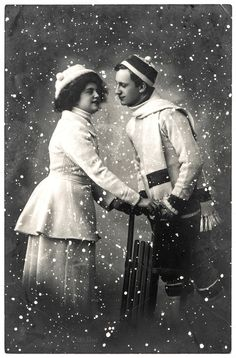 Picture of happy young couple outdoors. vintage picture with original film grain and blur stock photo, images and stock photography. Vintage Pictures, Old Pictures, Vintage Images, Christmas Pictures, Christmas Ideas, Young Couples, Winter Holidays, Vintage Christmas, Stock Photos
