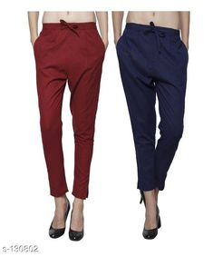 Trousers & Pants Gorgeous Cotton Pant (Combo of 2) Fabric: Cotton Waist Size: 26 in 28 in 30 in 32 in 34 in 36 in 38 in 40 in 42 in Length: Up to 35 in to 36 in Type: Stitched Description: It Has Combo of 2 Pant Pattern: Solid Country of Origin: India Sizes Available: 26, 28, 30, 32, 34, 36, 38, 40, 42   Catalog Rating: ★4 (204)  Catalog Name: Ladies Cotton Pants Combo Vol 1 CatalogID_12887 C79-SC1034 Code: 295-130802-9942