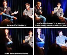 [SET OF GIFS] Jared and Jensen convention panel