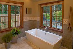 Sleek, contemporary bathtub design. Discovered on www.Porch.com