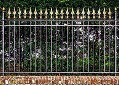 Landscaping, the must see design ref 1654939823 for a breath-taking yard. Fence Wall Design, Balcony Railing Design, Door Gate Design, Wrought Iron Staircase, Wrought Iron Fences, Metal Garden Fencing, Fence Garden, Modern Fence, Garden Modern