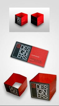 Cube business card. It turns into the shape of a cube. When flat its the size of a normal business card