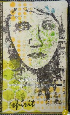 art journal by Caroline Duncan ~ Stampings and Inklings ~