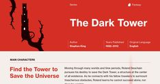 This study guide and infographic for Stephen King's The Dark Tower (Series) offer summary and analysis on themes, symbols, and other literary devices found in the text. Explore Course Hero's library of literature materials, including documents, Q&A pairs, and flashcards created by students and educators.