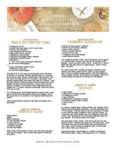 Pumpkin Harvest Workshop & Printable Recipes  Great Fall Party Idea!  http://jennysteffens.blogspot.com/2012/10/pumpkin-harvest-workshop-recipes.html