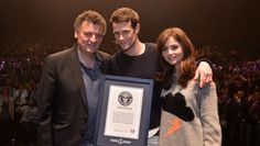 After a spectacular night of global celebration for Doctor Who's 50th Anniversary, Executive Producer and Head Writer Steven Moffat was presented with the Guinness World Record for the largest ever simulcast of a TV drama, following a global campaign from BBC Worldwide that saw The Day of the Doctor broadcast in 94 countries across 6 continents.
