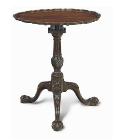 A GEORGE II MAHOGANY TRIPOD TABLE -  CIRCA 1750
