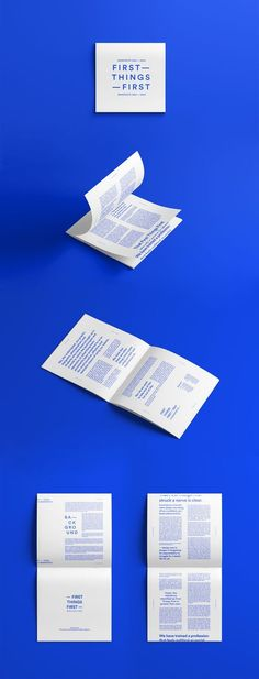 First Things First Manifesto | University Project on Behance: