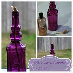 Glass Bottle Oil Lamp