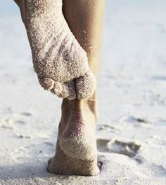 The feel of sand between your toes!