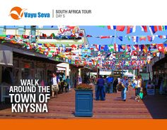 Visit the popular leisure and shopping destinations of #Knysna. Travel to #SouthAfrica this puja only @Rs 149,990 with #VayuSeva