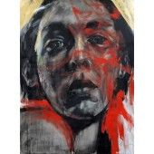 """""""Loni 1"""" William Stoehr - Artist Original Acrylic Painting on Canvas  A bold painting of a women. It's the eyes that pull you in. 48"""" x 36""""  $6,500.00 - See more at: http://gallerystthomas.com/art-medium/acrylic-paintings/loni-1.html#sthash.JJcQXy1R.dpuf"""