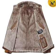 Vintage Brown Shearling Lined Jackets CW857055