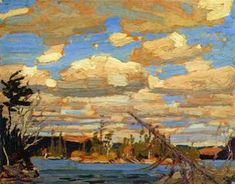 Quality print by Group Of Seven artist Tom Thomson - Ragged Lake; Made In Canada. Group Of Seven Art, Group Of Seven Paintings, Emily Carr Paintings, Paintings I Love, Canadian Painters, Canadian Artists, Landscape Art, Landscape Paintings, Tom Thomson Paintings