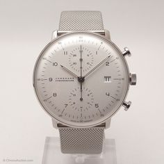 Junghans Uhr Referenz 027-4003.44 Max Bill Chronoscope Chronograph, Automatik Kal. J880.2