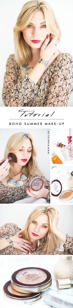 Ihr liebt den angesagten Boho Style? Dann erfahrt ihr hier wie ihr euch ein tolles Boho Make-Up zaubern könnt! Mit Messy Hair, goldenem Bronzer und sonnigem Highlighter! Mehr? http://kiamisu.de/