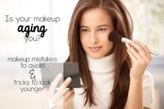 Is your makeup making you look older?  Great tricks to look younger!
