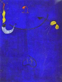 1924 Joan Miro (Spanish Surrealist Painter and Sculptor, 1893-1983) Catalan Peasant with a Guitar