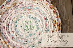 Instructions to make your own Rag Rug with left over fabric or new fabric--you choose!