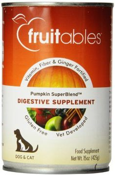 Fruitables Pumpkin Dog Digestive Supplement with vitamin fiber and ginger fortified 15Ounce Can >>> Check this awesome product by going to the link at the image.