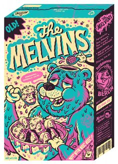 Melvins Berlin cereal box shaped gig poster by Michael Hacker