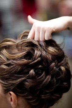 The waves have it.  This technique is great to create an updo for short hair styling.