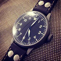 Modern Laco Munster 42mm aviator watch.#watches