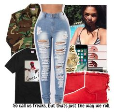 """""""Fashion Nova Jeans Contest❣️"""" by purplequeen04 ❤ liked on Polyvore featuring Pointer Brand, Gucci, Rolex, UGG Australia and !iT Collective"""