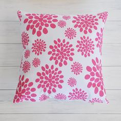 """Pink Pattern, Decorative Pillow, Throw Pillow, Cushion Cover, Pillow Cover,  16"""" x 16"""""""