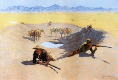 Frederic Remington Fight for the Water Hole oil painting for sale; Select your favorite Frederic Remington Fight for the Water Hole painting on canvas or frame at discount price. Frederic Remington, Native American Art, American Artists, American Indians, Mma, Google Art Project, West Art, Oil Painting Reproductions, Le Far West