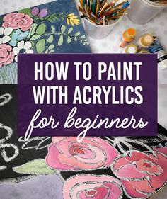 How to Paint with Acrylics - You Can Paint - Clumsy Crafter Acrylic Painting Tutorials, Using Acrylic Paint, Diy Painting, Types Of Painting, Stone Painting, Corelle Plates, Natural Bristle Brush, Brush Type, Wood Canvas