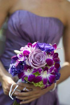 Purple Bridesmaids Bouquet / Rockcastle Florist, Rochester, NY