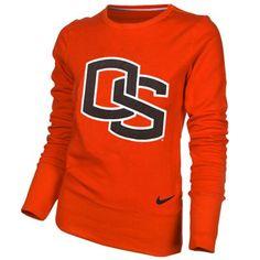Nike Oregon State Beavers Ladies Orange Excel Pullover Crew Sweatshirt $55